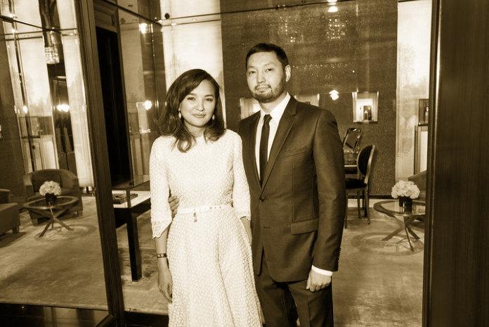 Кенес Ракишев со своей супругой